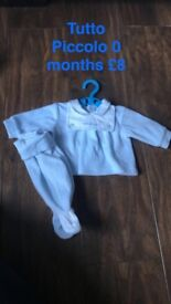 Baby boys Spanish and designer clothes 0-3 months. Pick up or postage available for extra .