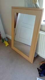 Mirror, wooden. Very good condition.