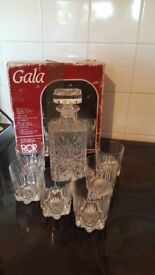 Lead Crystal Decanter + 6 Glasses £30