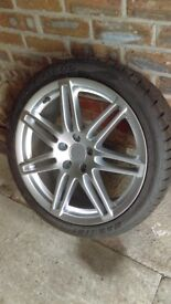 brand new 18 inch audi rep alloy with brand new tyre