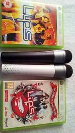 Xbox 360 lips game and microphone bundle