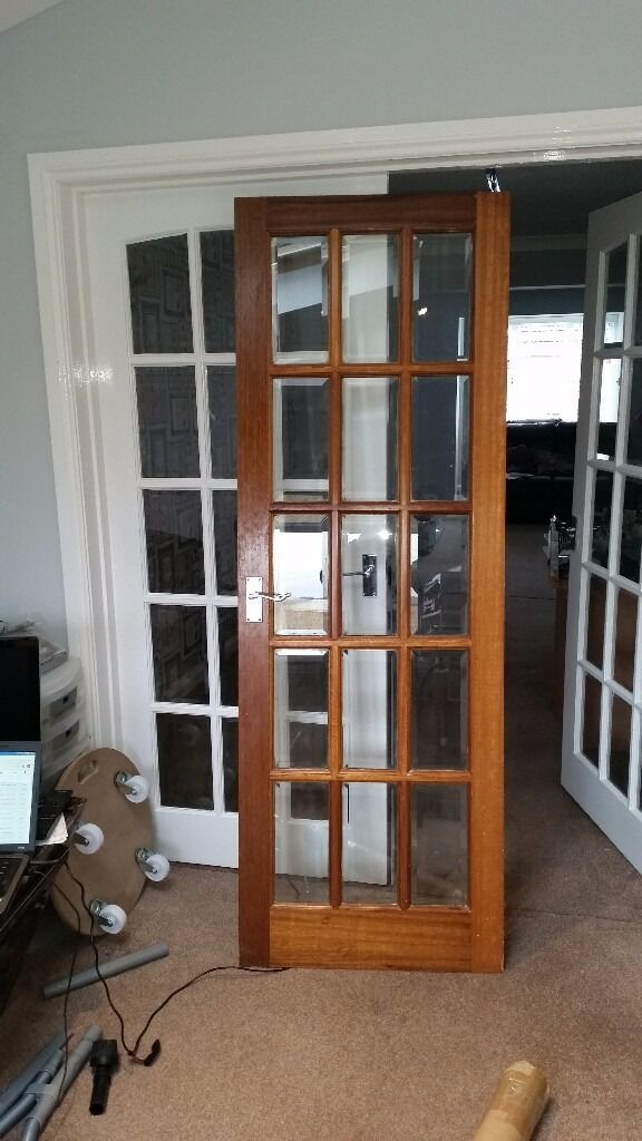 Free Solid Wood 15 Panel Glass Door Used In Clydebank West