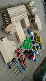 Wooden Early Learning car and road set.