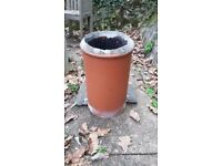 Clay chimney pot and cowl