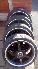 18 ' team dymatics drift wheels for sale avon zz3 tyres