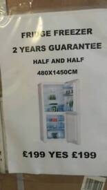 Fridge freezer half and half good quality comes with 2 years warranty boxed can deliver