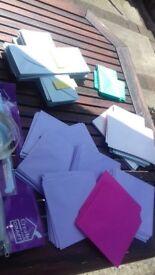 Craft items - scoreboards, stencils, envelopes
