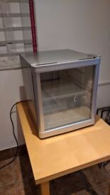 Small glass fronted drinks fridge