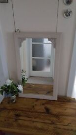 Lovely quality limed oak effect mirror in very good condition