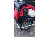 Bike Trailer Red good condition. Very little use