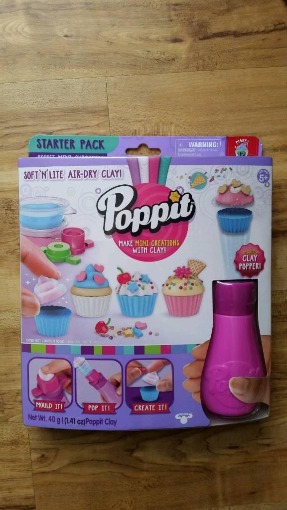 Poppit Mini Cupcakes Start Pack Make Creations Using Clay BNIB