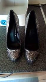 brand new size4 sparkley shoes hidden platform