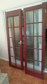 Internal solid wood french doors