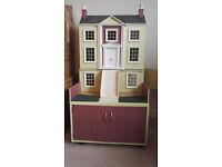 Large dolls house 120cm high x 60cm wide