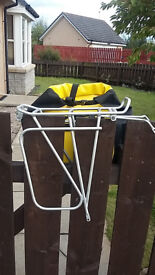 Classic Yellow Ortleib Panniers & Tortec Expedition 35kg Rear Rack