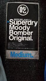 Mens Superdry Jacket **MOODY BOMBER** (Size Medium)