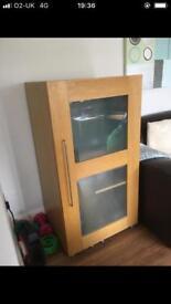 Oak computer cupboard