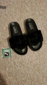 Black Puma Fenty Sliders - Brand New.