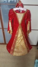 Red and gold princess dress