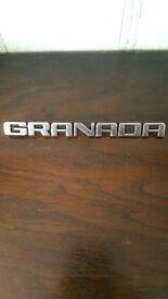 Ford Granada Genuine retro Original Badge.
