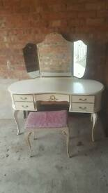French louis style dressing table and wardrobe