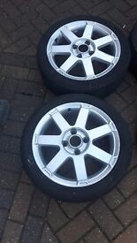 FORD 16 ALLOY WHEELS WITH TYRES