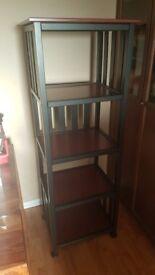 Modern storage unit. Habitat black brown 5 tier storage unit ideal for storing anything vgc