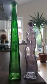 2 Novelty bottles with corks