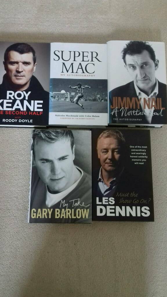 Five hard backed autobiographies