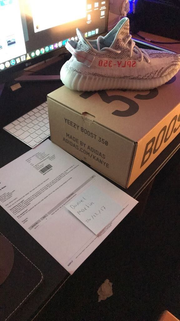Adidas Yeezy Boost 350 V2 Blue Tint   Brand new   Confirmed Order   Different Size   Receipt   in Surbiton, London   Gumtree