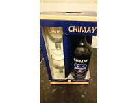 Belgian beer Chimay Peres Trapistes + 2 glasses