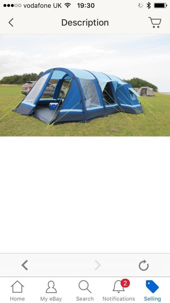 Filey 6 Kampa inflateable blow up Air tent Airframe - £2000 new | in ...