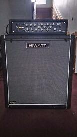 Peavey Pro Bass 500 and 400 watt Hiwatt Cab
