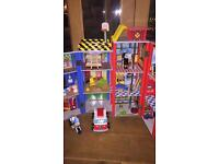 Wooden Fire house - playhouse