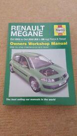 RENAULT MEGANE 2 4284 HAYNES WORKSHOP MANUAL 2002 - 2008 / 52 TO 58 PLATE / REG