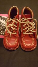 Childrens red kickers