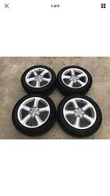 17' Genuine Audi A4/5/6 alloy wheels and tyres (vw seat)