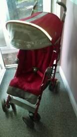 Maclaurn buggy in rose red