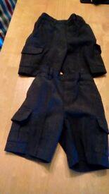 Boys Grey School Shorts Age 3 - 2 pairs