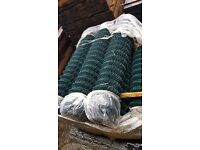 6 foot chainlink fencing green x 25 metres