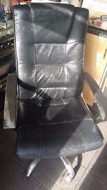 Black imitation Leather Office Chair