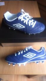 UMBRO SPECIALI 4 SHIELD HG JNR Football Boots Blue/White Shoe 3 UK 35.5 EU
