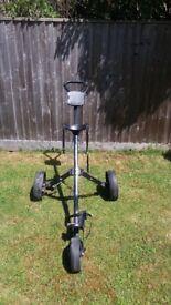 Slazenger Golf Bag Carrier. 3 Wheels, front wheel can be taken off