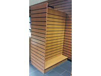 Shop Retail Slatwall H Display stand / island