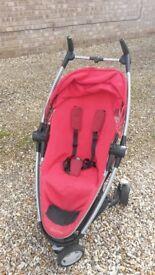 Red Quinny Zapp Pushchair Buggy Stroller