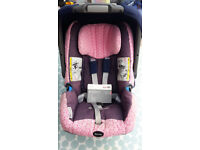 BRITAX Roemer Baby Safe plus SHR and ISOFIX base (incl summer cover and mirror)