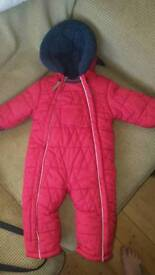 Mothercare 9-12 month snowsuit, worn once.