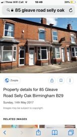 House to rent in Selly Oak Birmingham