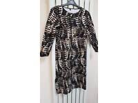 Leopard print body on dress size 14