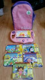 Leapfrog my 1st leap pad. With six books & cartridges and backpack holdall